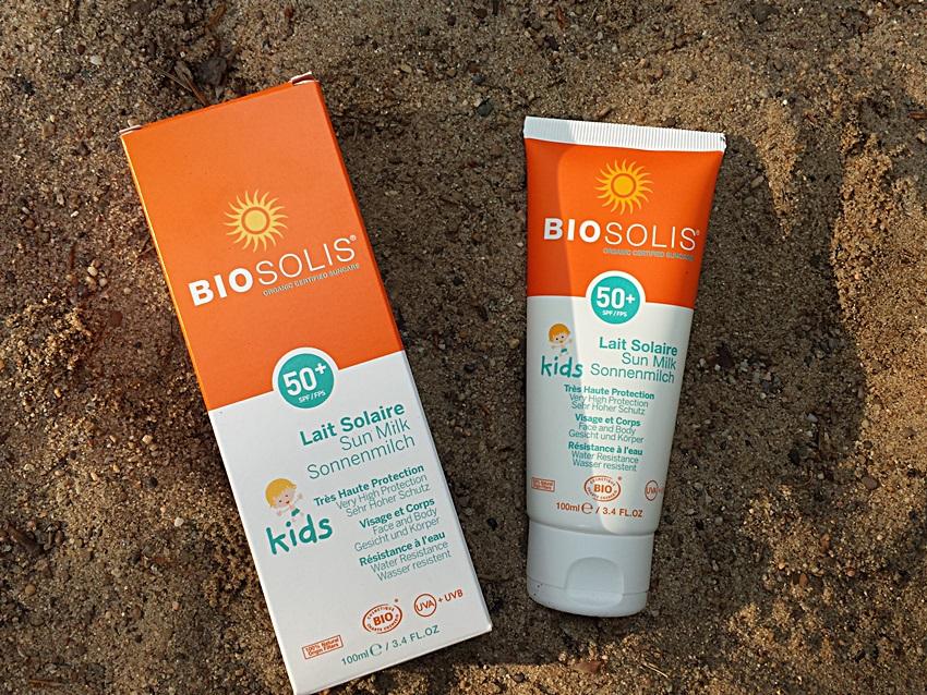 Детское солнцезащитное молочко Biosolis (SPF 50+)