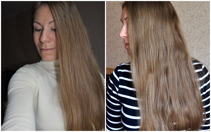 Волосы Алёны ДО и ПОСЛЕ эксперимента
