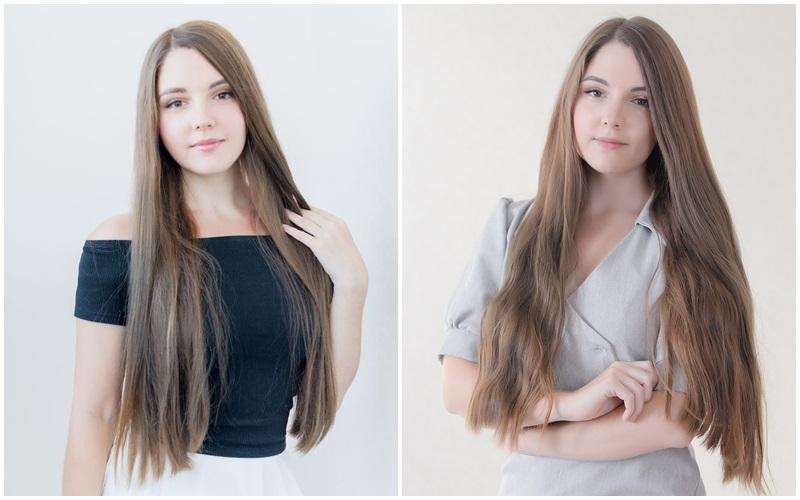 Волосы Леры ДО и ПОСЛЕ эксперимента
